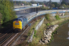 55009 Alycidon (David Blandford photography) Tags: 55009 alycidon totton 1z45 0431 burton swanage trent railtour hampshire