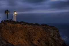 Point Vicente Lighthouse - Palos Verdes, California (Candice Staver Harris) Tags: nightphotography pacificocean california losangeles southbay beacon 2017 bluehour landscape lighthouse longexposure ocean palosverdes pointvicente seascape sunset