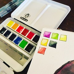 (greendot) Tags: schmincke horadam schminckehoradam watercolor watercolorbox watercolors aquarelle akvarell aquarell art paintbox