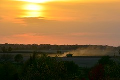 Work til Sunset (Theresa*) Tags: farm elburn illinois nikond7100 autumn season corn farmer