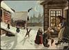 Julemotiv tegnet av Othar Holmboe (National Library of Norway) Tags: nasjonalbiblioteket nationallibraryofnorway postkort postcards julekort christmascards jul christmas juletradisjoner otharholmobe overrekkelseskort kartongkort fjøsnisser julegrøt nisser