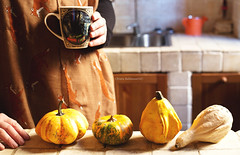 Autumn, 2. (sullen_snowflakes) Tags: zucche pumpikns mani hands tazza mug girl volpi foxes cucina kitchen autunno autumn