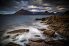 From Sea to Sky (Augmented Reality Images (Getty Contributor)) Tags: hebrides cuillin isleofskye scotland leefilters island cliffs water mountains waves longexposure canon rocks elgol clouds unitedkingdom gb