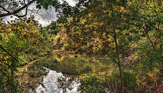 IMG_0857-59Ptzl1scTBbLGER (ultravivid imaging) Tags: ultravividimaging ultra vivid imaging ultravivid colorful canon canon5dmk2 clouds evening twilight autumn autumncolors stormclouds sky scenic vista rural rainyday landscape water reflections painterly panoramic pennsylvania pa trees