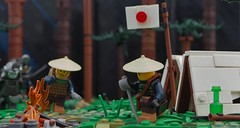 From the Depths of the Forest (W. Navarre) Tags: lego japan ashigaru ambush attack fight flee forest scene all tent