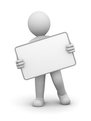 3D Character and Blank Board (AjansKon) Tags: 3d character human person blank card white board empty any nothing copy paste get grab lable label paper write void hold own note tablet text message type dialog minute memoir record personage figure pose animation man abstract communication concept business symbol graphic illustration design hint gray render