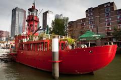 Lightship. (weggum) Tags: lightship red rotterdam holland weggum