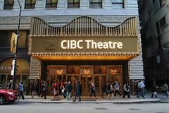CIBC Theatre (Flint Foto Factory) Tags: chicago illinois urban city late summer early fall autumn september 2017 downtown loop wmonroest monroe dearborn intersection statest cibc privatebank theatre theater 18 hamilton musical marquee sign signage letters new name