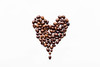 Heart made of coffee beans (wuestenigel) Tags: natural color bean breakfast roasted brown background morning food macro love black isolated shape white espresso aroma cafe coffee beverage fresh seed texture gourmet image drink valentine symbol caffeine romance dark space freshness closeup heart nobody beans made energy