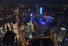 Shanghai night (Mikey Down Under) Tags: china prc swfc shanghai bluelight eveningsunset girl jinmao lights mother night pearltower pigtails pudong shanghaiworldfinancialcentre skyline