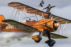 Boeing Stearman. N74189. (Nigel Paine) Tags: oldwarden boeing boeingstearman biplane n74189 breitling wingwalker canon7dmkii ef300f28l