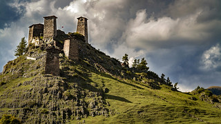Fortress of Keselo. Omalo, Tusheti, Georgia.