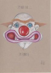 I'm not evil.....I'm funny (Klaas van den Burg) Tags: funny humor haloween clown pencil color absurd