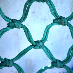 Links (YIP2) Tags: blue turquoise greenish rope knot abstract minimal minimalism simple less line detail lines link linked thread finds pattern