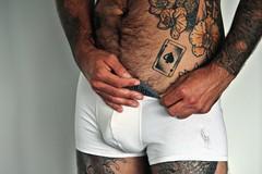 ⚤ Peter # 12 Seven of Spades (just.Luc) Tags: man male homme hombre uomo belgium belgië belgique belgien belgica trunks ralphlauren underwear ondergoed sousvêtement tattoo tatoeage tatouage belly hairy behaard poilu bellybutton navel nombril sevenofspades schoppenzeven septdepique piksieben