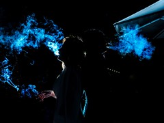 Robado en boda (Antonio Goya) Tags: boda wedding smouth humo tabaco cigaro fumando backlight contraluz frio atmosphere atmosfera atmospheric lights flash robado candid zaragoza españa spain olympus omd dng xataca micro43