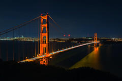 Golden GateBridge on a Winter Night (runcolt12) Tags: goldengatebridge sanfrancisco california californiacoast pacificcoasthighway pacificocean winter lights harbor