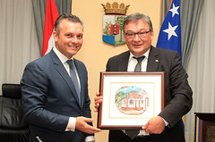 "PM Schotte with PM of Greenland Kuupik Kleist in Curacao • <a style=""font-size:0.8em;"" href=""http://www.flickr.com/photos/137313818@N05/37274893440/"" target=""_blank"">View on Flickr</a>"
