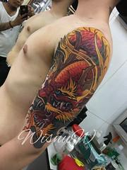 Dragon tattoo by wisnu wardana #Dragontattoo #dragoncolorstattoo #Colorstattoo #Bali #Holiday (wisnutattooart) Tags: dragontattoo dragoncolorstattoo colorstattoo bali holiday