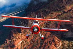 Stearman & Red Hills AZ (jetguy1) Tags: boeingstearman pt17 stearman biplane aviation airplane pilot wwii