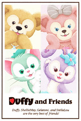 Duffy & friends postcard (House Of Secrets Incorporated) Tags: postcard japan holiday travel travelphotography trip citytrip tokyodisneysea tokyodisney disney duffythedisneybear duffy bear teddybear shelliemay stellalou gelatoni cat cats bunny bunnies rabbit rabbits