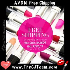 Avon Free Shipping September 2017 (cjteamonline) Tags: avon avoncouponcodes avonfreeshipping avonseptemberfreeshipping cjteam couponcodes finalday freeavon freeshipping goingfast lastday limitedquantities limitedtime onetimeuse onlinepromotion orderavononline ordertoday promotion ra2509 sale septemberfreeshipping thecjteam today whilesupplieslast