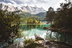 Eibsee (Steffen Walther) Tags: fotografjena steffenwalther alpen alps austria hiking trekking wandern eibsee bavaria bayern lake green island zugspitze canon1740l canon5dmarkiii rocks landscape trees travel europe emerald autumn herbst