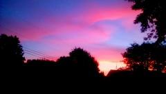 October sunrise! (Maenette1) Tags: october sunrise sky pink blue trees menominee uppermichigan flicker365 michiganfavorites