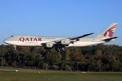 Qatar Airways Cargo  Boeing 747-8F A7-BGB (widebodies) Tags: luxemburg luxembourg lux ellx widebody widebodies plane aircraft flughafen airport flugzeug flugzeugbilder qatar airways cargo boeing 7478f a7bgb