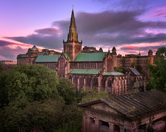 Glasgow Cathedral and Glasgow Skyline in the Morning, Scotland, United Kingdom (ansharphoto) Tags: ancient architecture belfry blue britain brown building cathedral cemetery church churchyard city cityscape construction dawn dom europe european faith glasgow gothic grave graveyard great history iconic kingdom landmark medieval monument morning red religion scotland scottish sky skyline spire stone structure sunrise tomb tourism tower town travel uk united urban wall