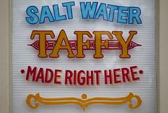 Salt Water Taffy, Provincetown, Cape Cod, Massachusets, USA (Thierry Hoppe) Tags: saltwatertaffy provincetown capecod massachusets usa old sign taffy shop shopfront detail handwriting handwritten painted paint