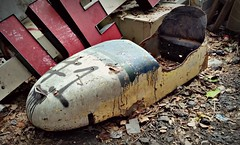 The good time are never forgotten (Dave* Seven One) Tags: soapboxderby soapboxracer racecar vintage classic rusty rust rot decay fallingapart junk scrap scrapmetal abandoned forgotten broken used