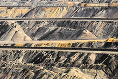 Brown Coal Opencast Mining (ARTUS8f) Tags: flickr linien abstraktesgemälde gesteine erde braunkohletagebau painted desert technik rocks soil earth abraum tailings