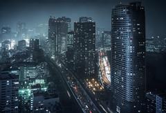 Minato (ScottSimPhotography) Tags: tokyo japan japanese city night cityscape nightscape evening late dark buildings downtown asia asian center centre lights neon bladerunner noir neonoir scifi travel famous sightseeing visit location photography sony a6000 scottsimphotography ghostintheshell deckard