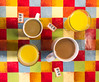 IMG_6304 (llamnudds) Tags: uk wales snowdonia coffee orange juice brown drink drinks breakfast table checks check suare 858 859 820 numbers