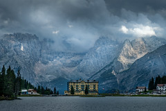 Grand Hotel Misurina (Mario Visser) Tags: background lake water travel landscape outdoor mountain adventure hotel alpine view nature europe great tree wood house tourism vacation forest dolomites italy misurina