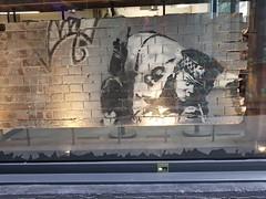 Banksy (restored?) Back in Curtains rd. (unusualimage) Tags: banksy unusualimage bricklane londonurbanart restored