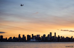 Flying The Cotton Candy Skies (Clayton Perry Photoworks) Tags: vancouver bc canada northvancouver fall autumn skyline sky explorebc explorecanada airplane sunset clouds city