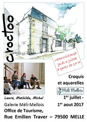 Galerie Meli Mellois, juillet 2017 (Croctoo) Tags: croctoo croctoofr croquis expo