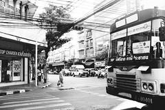 Commute (lorenzoviolone) Tags: bw blackwhite blackandwhite coach finepix fujix100s fujifilm fujifilmx100s ilfordpanfplus monochrome vsco vscofilm x100s bus mirrorless strangers street travel:southeastasia=2017 urban bangkok krungthepmahanakhon thailand