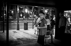 Jun 04, 2017 (pavelkhurlapov) Tags: eyecontact people streetphotography monochrome night thumbsup coffee candid tout