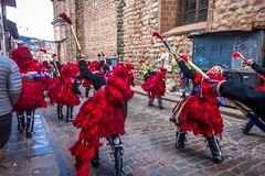 Cusco daily parades in full colors.