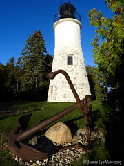 Old Presque Isle Lighthouse (JamesEyeViewPhotography) Tags: michigan northernmichigan water greatlakes lake huron anchor rocks trees sky lighthouse old presque isle fall autumn