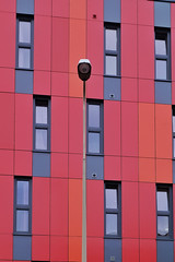 3-2-3 (Douguerreotype) Tags: uk two oxford light orange lines abstract british buildings red three university window architecture britain city gb wall urban england