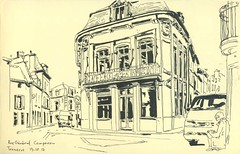 Rue du Général Campenon - Tonnerre (lolo wagner) Tags: urbansketchers usk croquis sketch tonnerre bourgogne