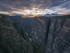 Black Canyon (Aaron Spong Fine Art) Tags: black canyon gunnison painted wall sunset color colroful colorado national park preserve river canyons dusk evening
