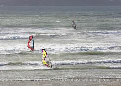 Storm Brian (doublejeopardy) Tags: beach gale storm stormbrian sea windsurfer surf water cornwall whitewater waves england unitedkingdom gb