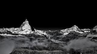 Matterhorn, Gornegrat, Zermatt, Switzerland / SML.20150919.6D.34158.BW.C169