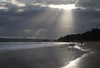 Shaft of sun (arripay) Tags: poole beach bournemouth sandbanks sun shaft light cloud