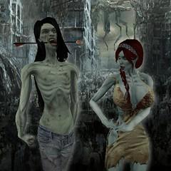 I Can't Take You Anywhere (Rebel Donut) Tags: portrait couple zombie arrow husband wife apocalypse